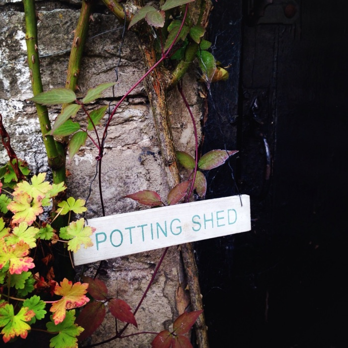 To the potting Shed