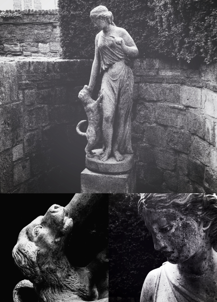 Statue of a lady & her dog
