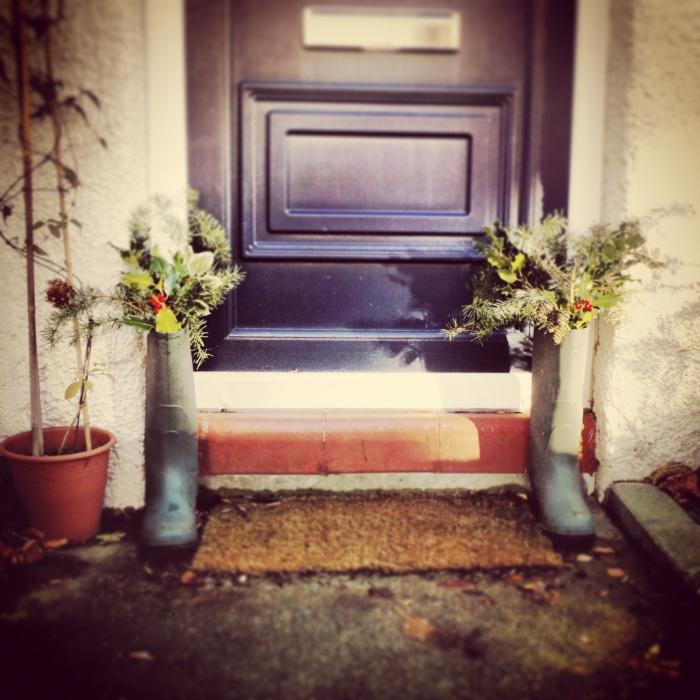Wreath Wellies 2