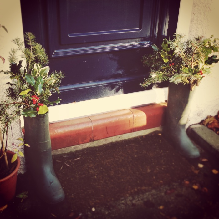 Wreath Wellies