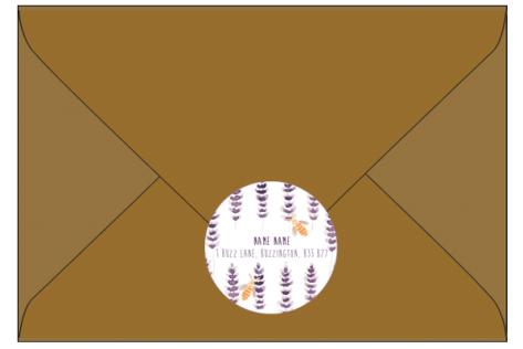 Brown Envelope & Address Sticker Flat