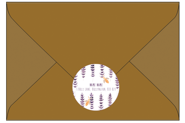 Brown Envelope & Address Sticker Flat