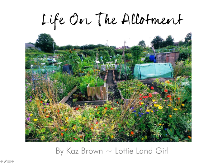 Life On The Allotment Welcome Slide