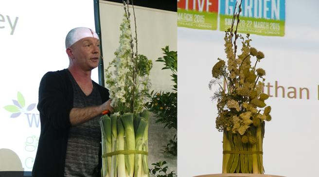 The Edible Garden Show Leek Floral Display