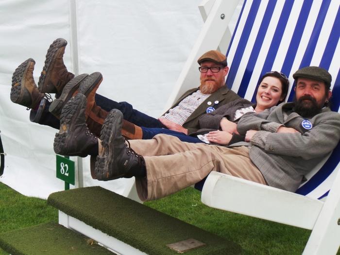 Holker Garden Festival | Lottie Land Girl, Pete and Gary Feet Up