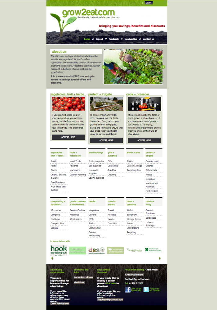 Grow2eat.com website